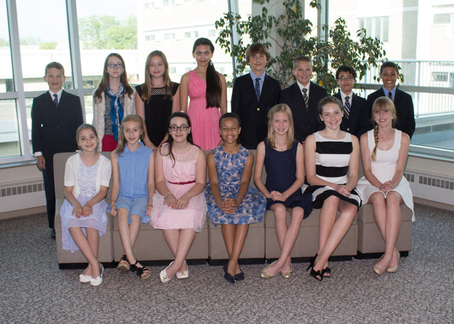 Local national and chapter French contest winners honored at Kings College  Kings College