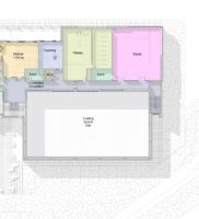 3469-XXXX-AAR-P1-ZZ-M3-A-SportsHall-WS-2016_m – Floor Plan – 01 – First Floor Space – Presentation Plan