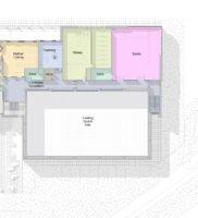 3469-XXXX-AAR-P1-ZZ-M3-A-SportsHall-WS-2016_m – Floor Plan – 01 – First Floor Space – Presentation Plan