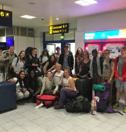 Airport – group photo – July 2018