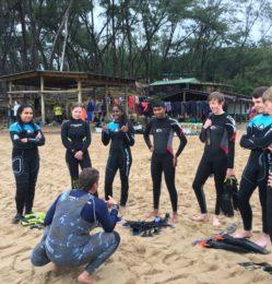 Beach – pre diving – July