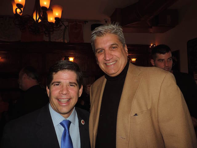 From left, City COuncilman Vincent Gentile and former City Councilman Domenic Recchia