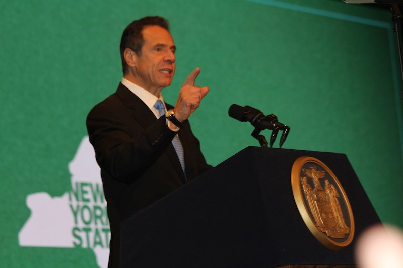 Gov. Andrew Cuomo delivers his State of the State Address. Photo By Saul Joseph/Universal Promotions