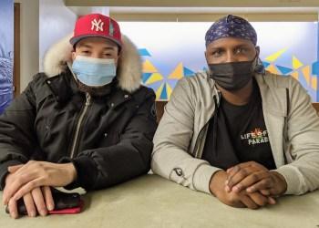 DJ Skrilla, left, and Terrance Rogers, right.