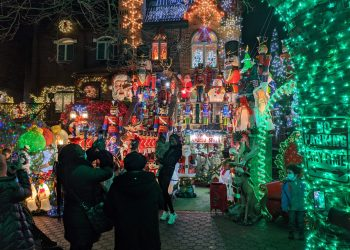 Decorated house in Dyker Heights. Photo by Ariama C. Long.