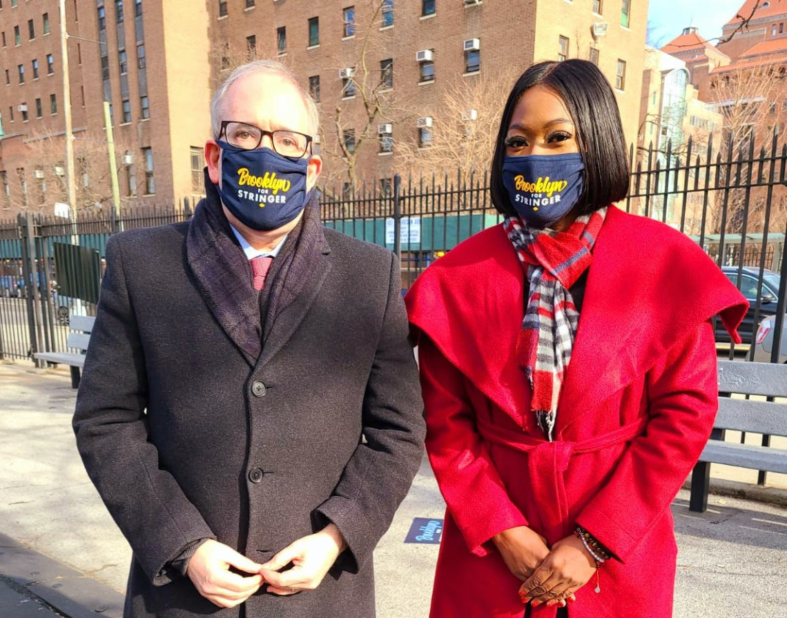 Comptroller and Mayoral Candidate Scott Stringer, left, with Assemblywoman Diana Richardson. Photo from Richardson's e-newsletter.