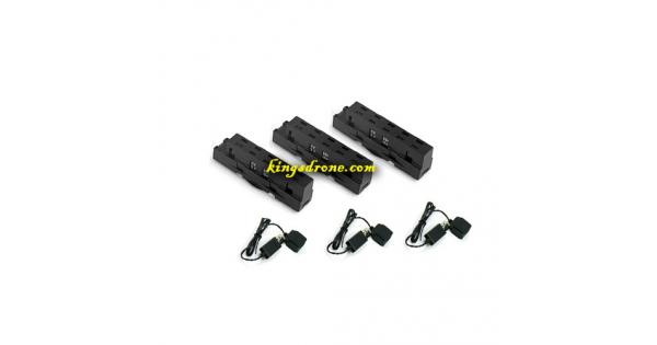 Pack of Lipo Batteries (3) + USB (3) Replacement Parts for