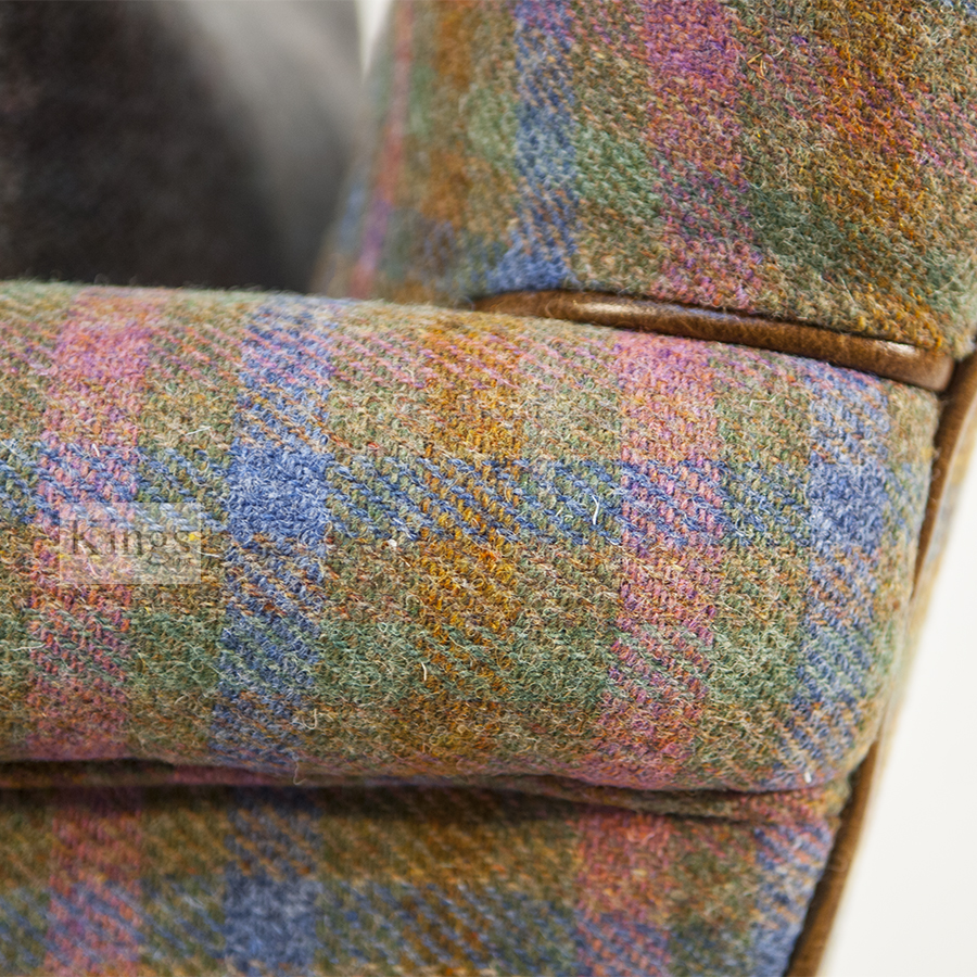 cleaning fabric sofa stains dfs brown leather for sale tetrad harris tweed bowmore chair