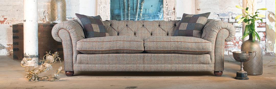 harris tweed bowmore midi sofa timber frame bed tetrad