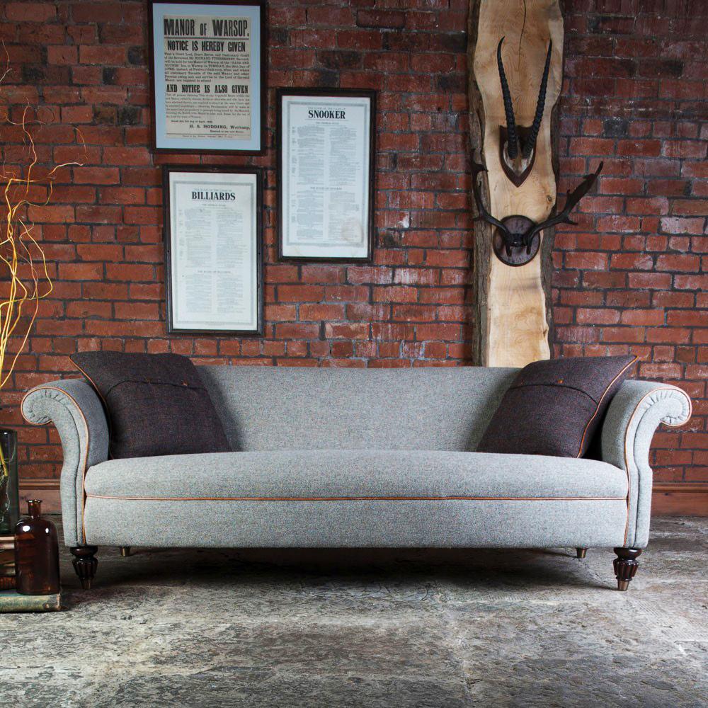 harris tweed bowmore midi sofa yellow slipcovers for sofas tetrad