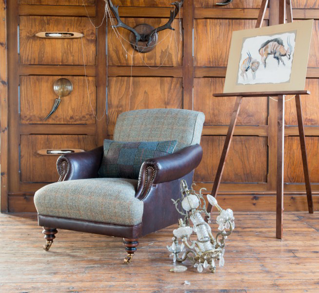 cleaning fabric sofa stains small 2 seater recliner leather tetrad upholstery harris tweed taransay ladies chair