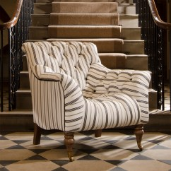 Fabrics For Chairs Striped Directors Chair Replacement Covers Flat Stick Tetrad Upholstery Yale In Ralph Lauren Signature Merrion Stripe