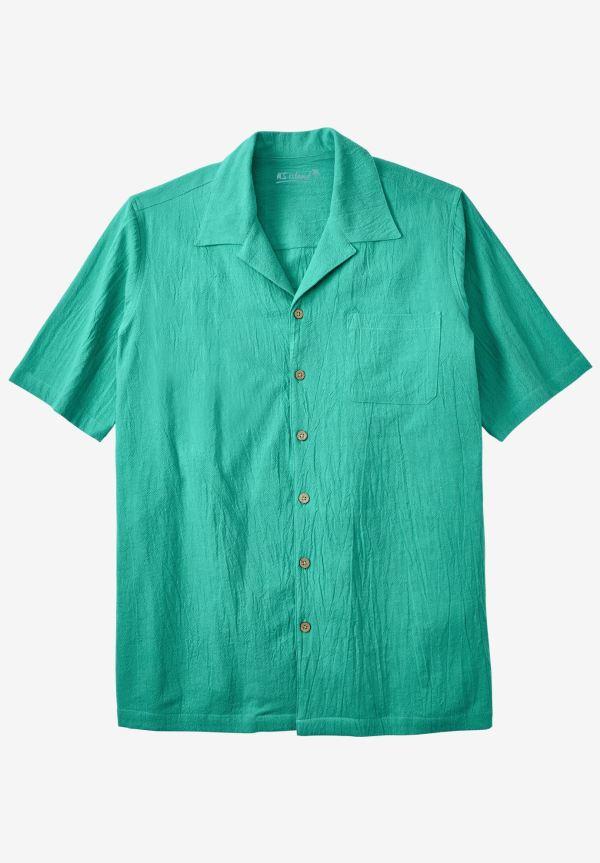 Gauze Cotton Camp Shirt Size Shirts King