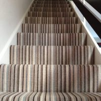 Stripe Stair Carpet Installation  Kinglsey Carpets ...
