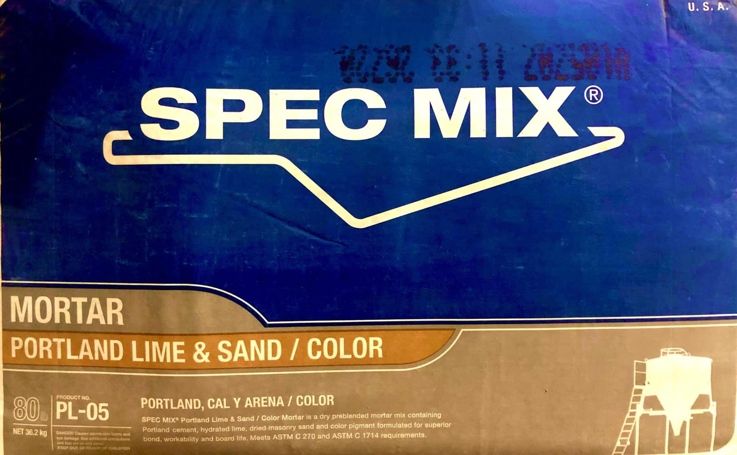 Spec Mix Mortar