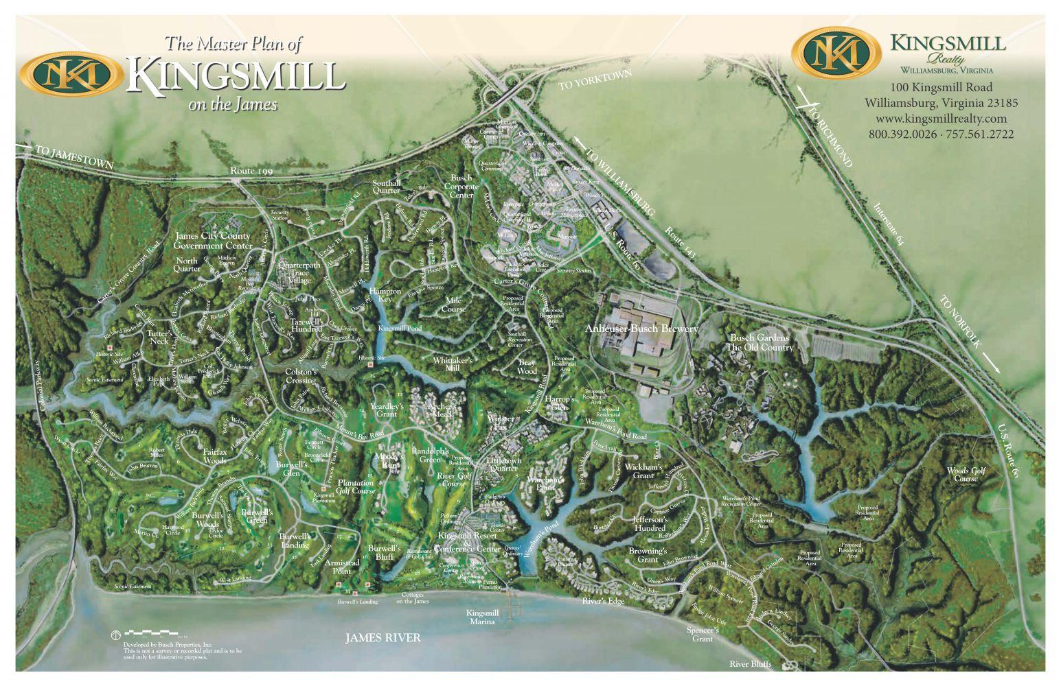 Kingsmill Site Map