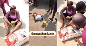 Woman caught stealing bag of rice - Kingsmotiongh
