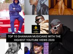 Musicians with the highest Youtube views in ghana and Africa