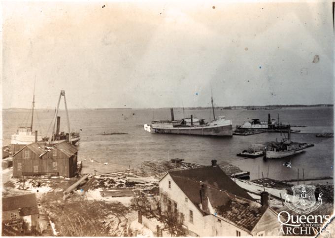 View of harbour at Garden Island, ca. 1900 (V23-Reg-Garden-1)