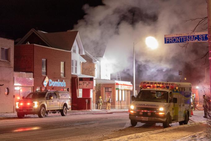 Fire Inside Old Ginos Building Sends One To Hospital Kingstonist