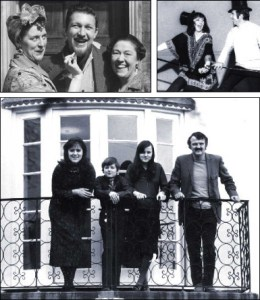 Barbara Mitchell with Peggy Mount. Barbara Mitchell dancing with Leslie Crowther. Barbara with husband Rex and children Melanie and Jeremy.