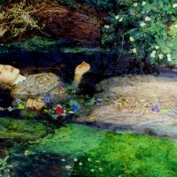 Ophelia by John Everett Millais painted on the Hogsmill River 1851