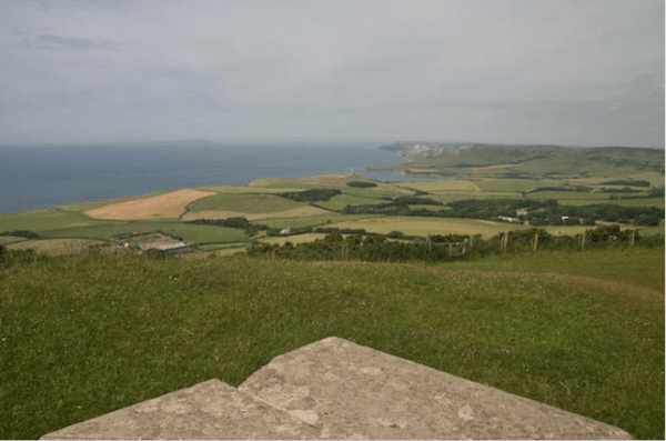 view from eldon seat towards white nothe by walks 4 softies