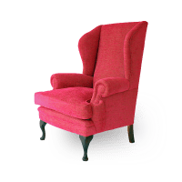 Contemporary Queen Anne Wing Chair | Kingston Traditional ...