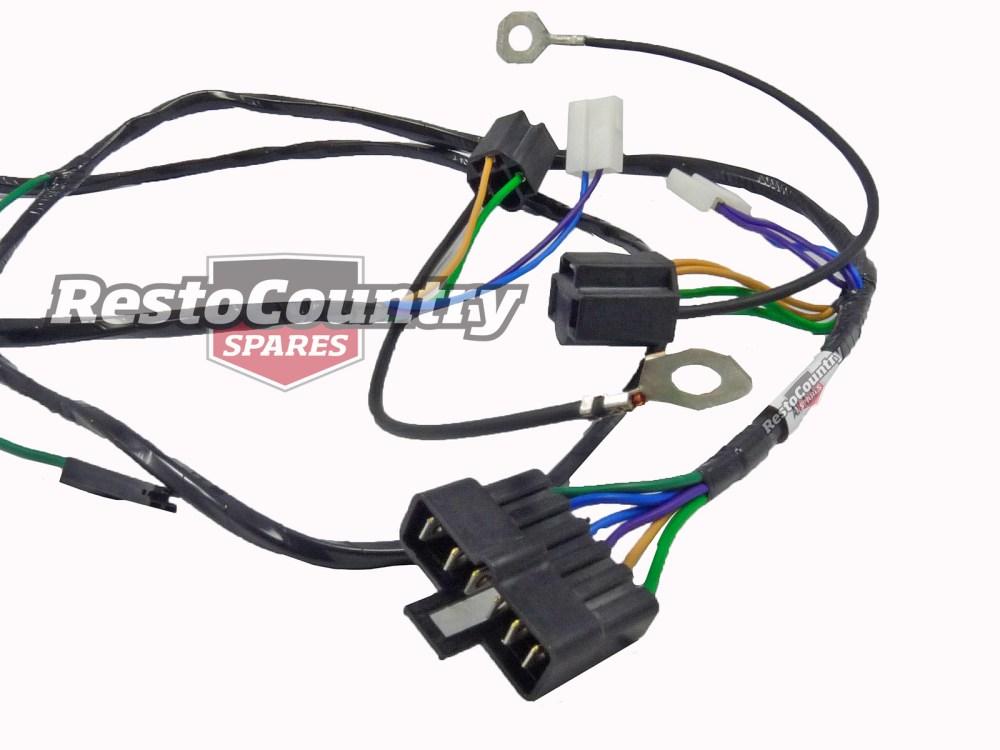 medium resolution of holden single headlight horn wiring loom