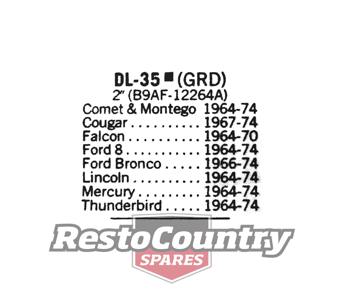 Ford Distributor Earth Ground Lead Wire V8 Dl 35 Cougar Bronco Lincoln Nors