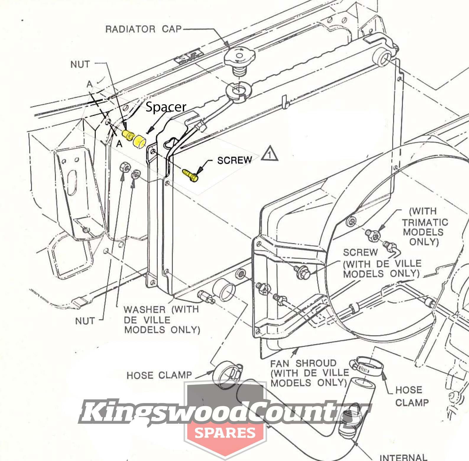 wb one tonner wiring diagram 200 meter track with measurements holden alloy radiator fitting kit mount bolts v8 6cyl hq