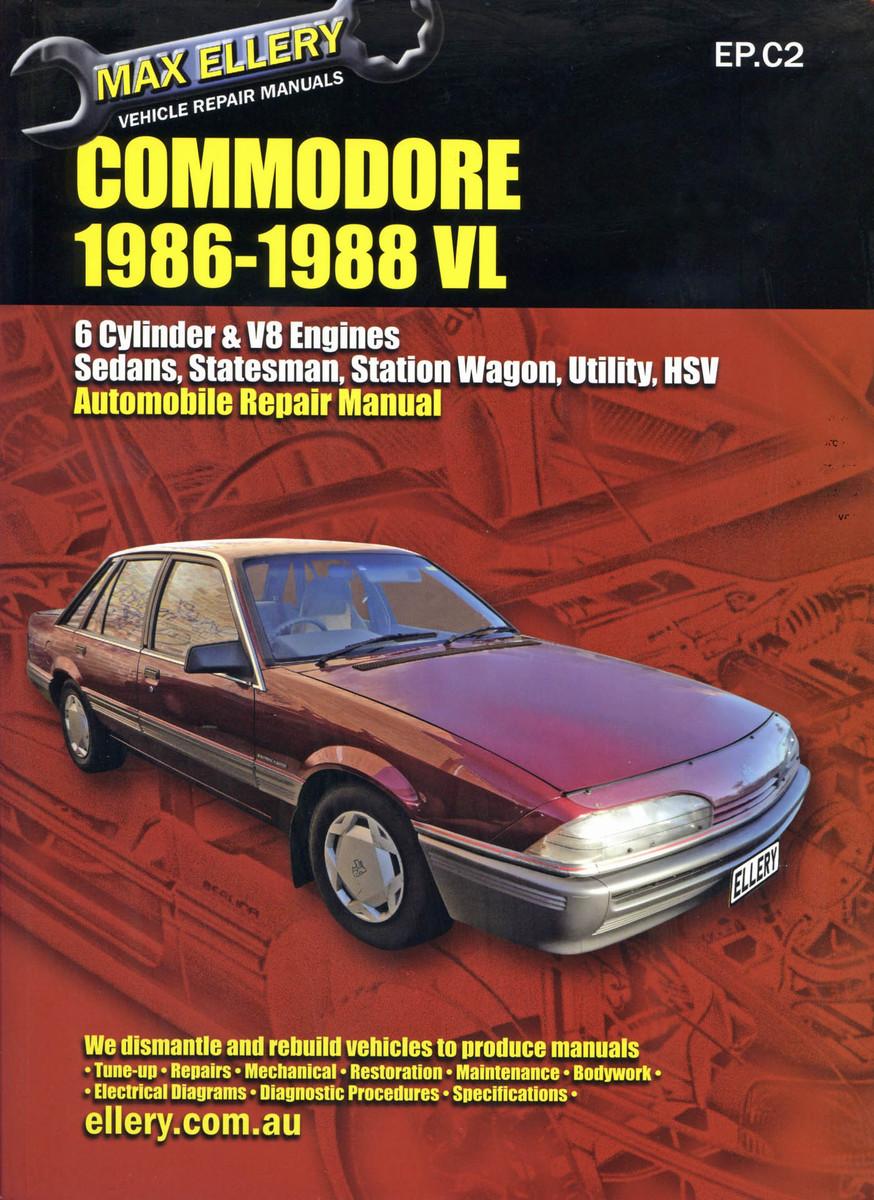 medium resolution of holden commodore vl 1986 88 workshop repair manual