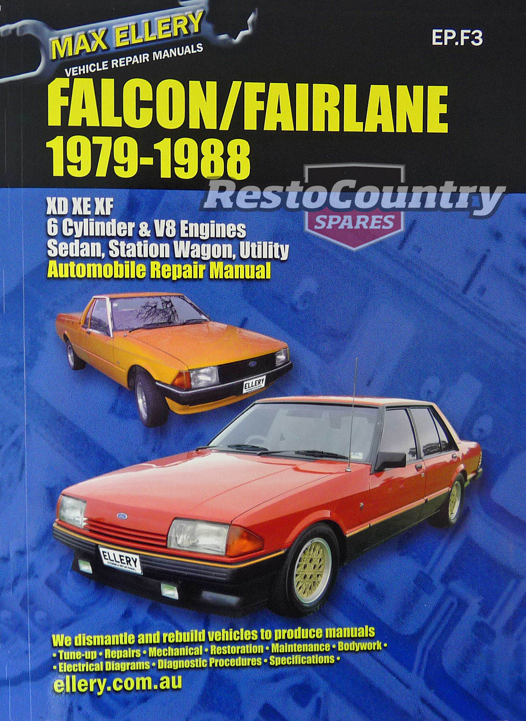 hight resolution of ford falcon fairlane xd xe xf workshop repair manual 1979 88 book