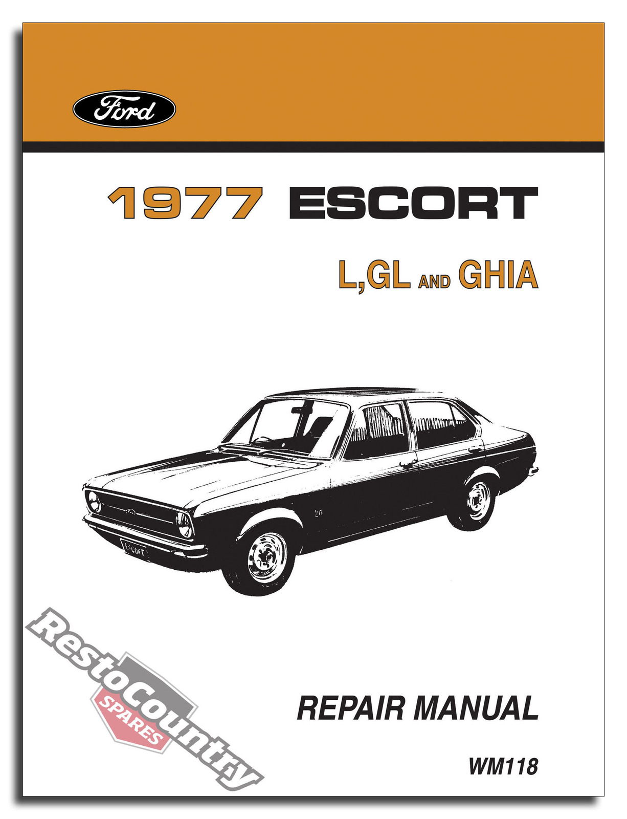 ford escort mk2 wiring diagram tool to draw sequence 1977 workshop service 43 repair manual l gl