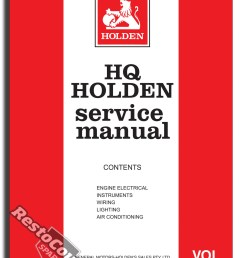 holden gmh factory hq vol 5 service manual electrical air con new workshop book [ 1133 x 1600 Pixel ]