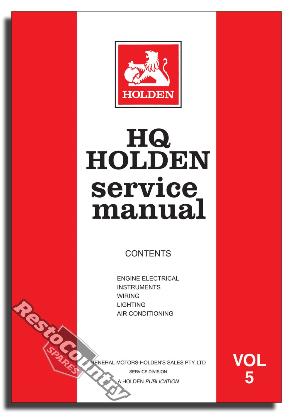 medium resolution of holden gmh factory hq vol 5 service manual electrical air con new workshop book