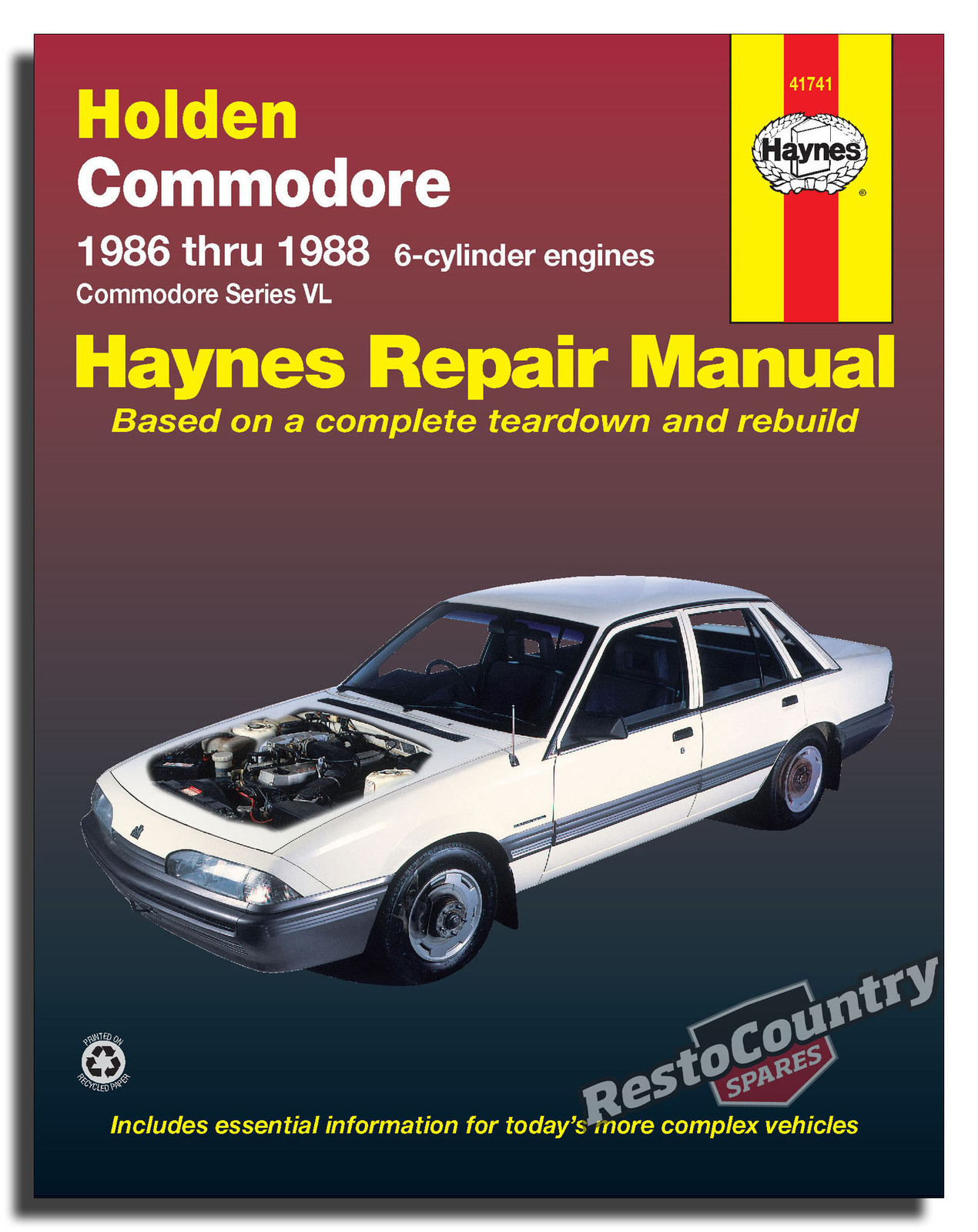 hight resolution of holden commodore vl 6cyl workshop service repair manual 1986 88 turbo book