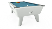 7ft Outback Coin Pool Table in White / Elite-Pro Powder ...