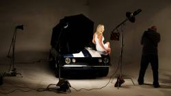 Brooke Hogan shoot in Kingswood's studio