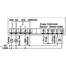 Temperature Controller KT-330 Controller for Freezing