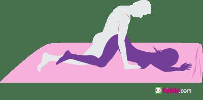 Flat doggie sex position