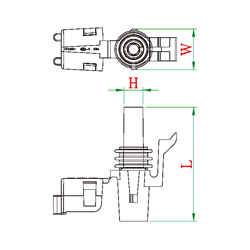 Male Female Pin Connector Male PCB Pins Wiring Diagram