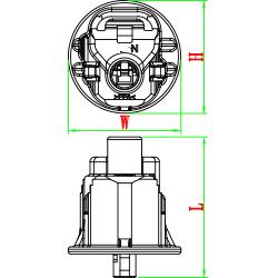 1 way female auto plug 7283-1114-30 90980-11363