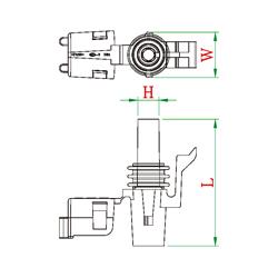 1 way waterproof replacement automotive connector 12015791