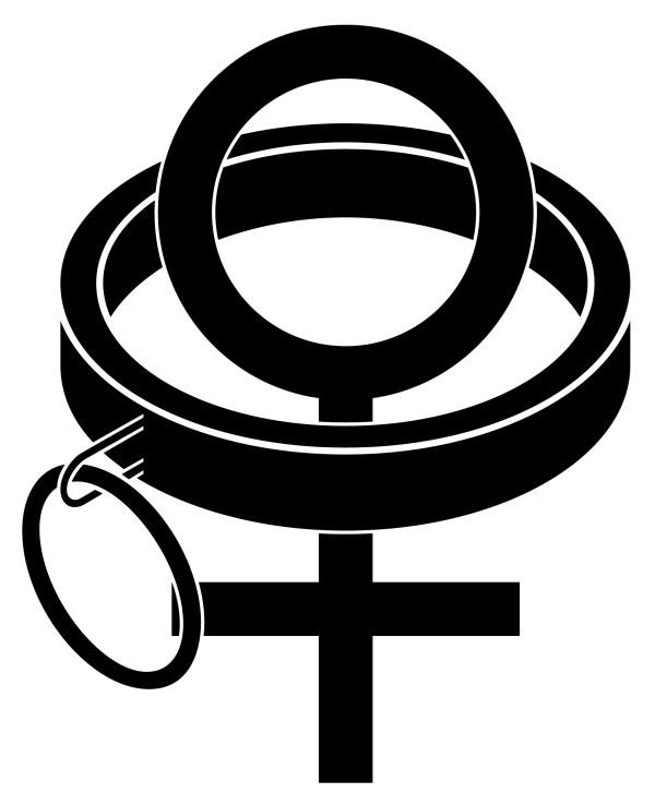 Collared Female Vinyl Decal