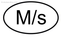 M/s Oval Vinyl Decal