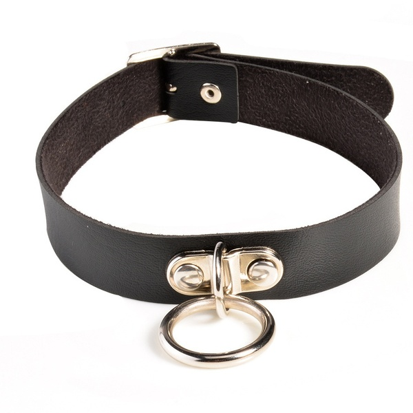 leather collar with ring