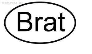 Brat Oval Vinyl Decal