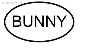 BUNNY Oval Vinyl Decal