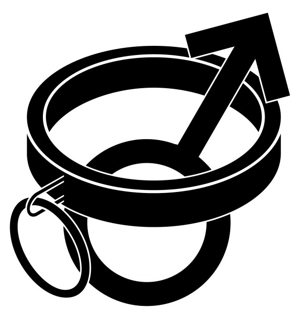 Collared Male Vinyl Decal